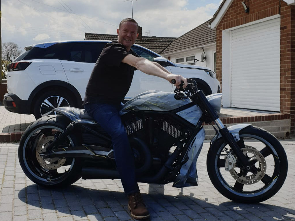 Winner Warren Stagg of a Harley Davidson Custom V Rod - Next level awesome  -  3rd May