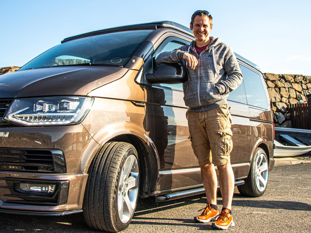 Winner Andrew Preston of a VW T6 (65 Plate) Highline in Toffee - DSG - Off Grid - 12th April