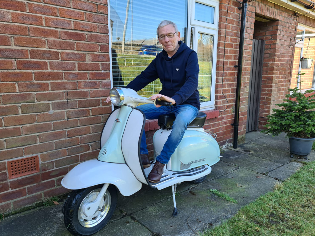Winner Ste Eccles of a 1963 Lambretta Li150 - 22nd Feb