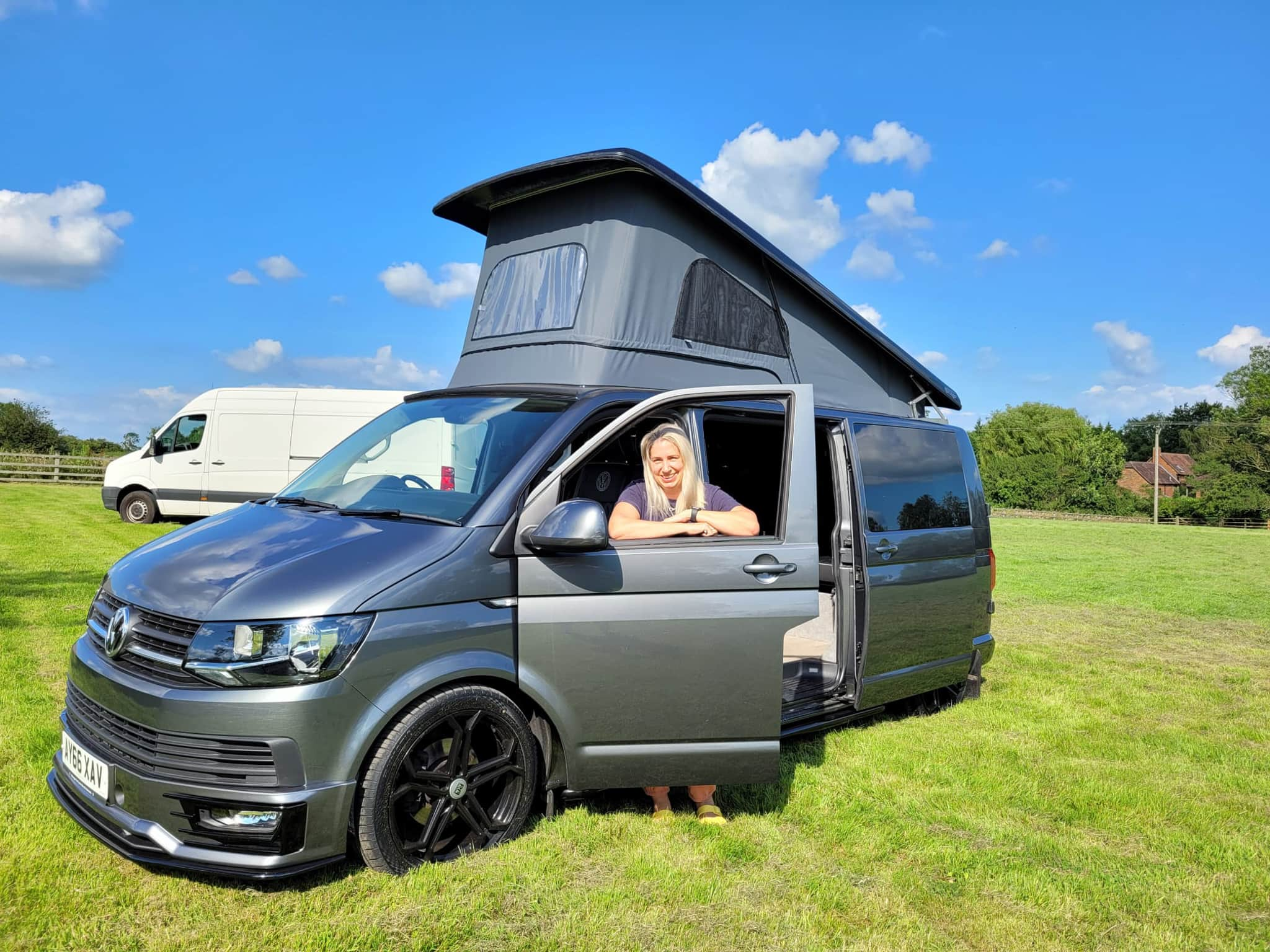Winner Lisa Bussell of a 2016 VW T6 Highline - Stage 2 200bhp - Off Grid with Pop Top - 12th July