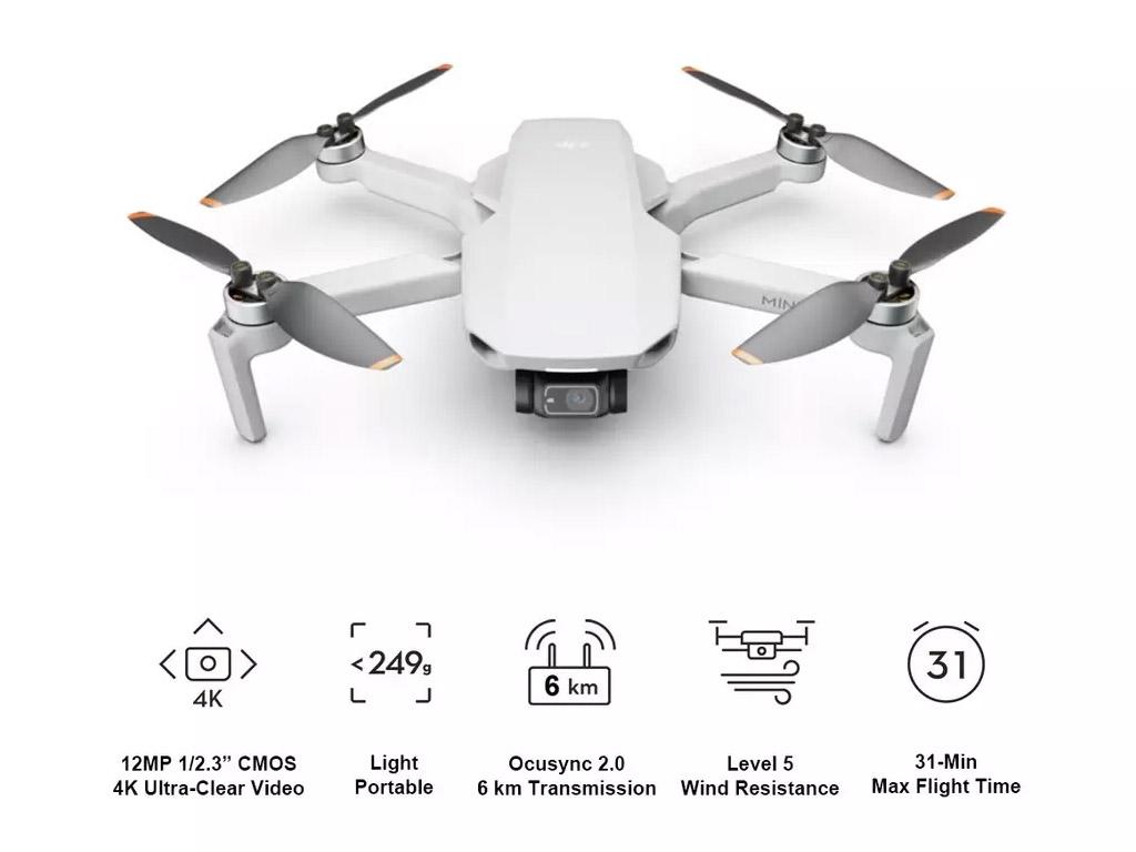 DJI Mini 2 Drone - Grey - 8th Feb