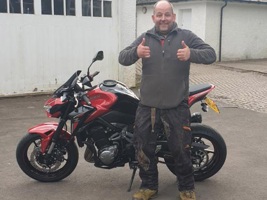 Winner Brian Keown of a Kawasaki Z900 ABS (2018)- 5th April