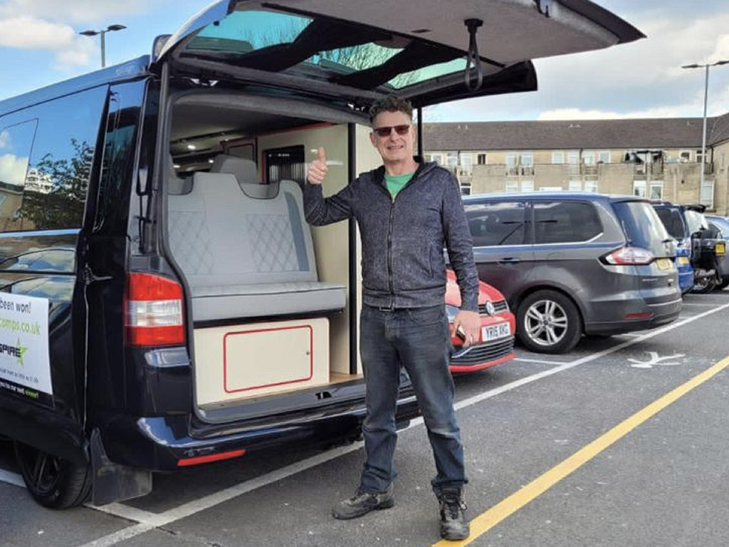 Winner Craig Zanelli of a VW T5.1 in Stunning Black - DSG - Off Grid - 12th April