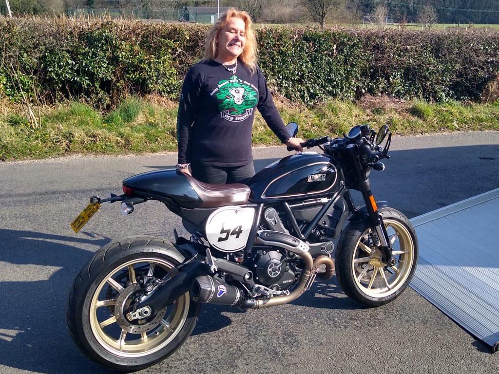 Winner Judith Field of a 2018 Ducati Scrambler Café - 22nd March