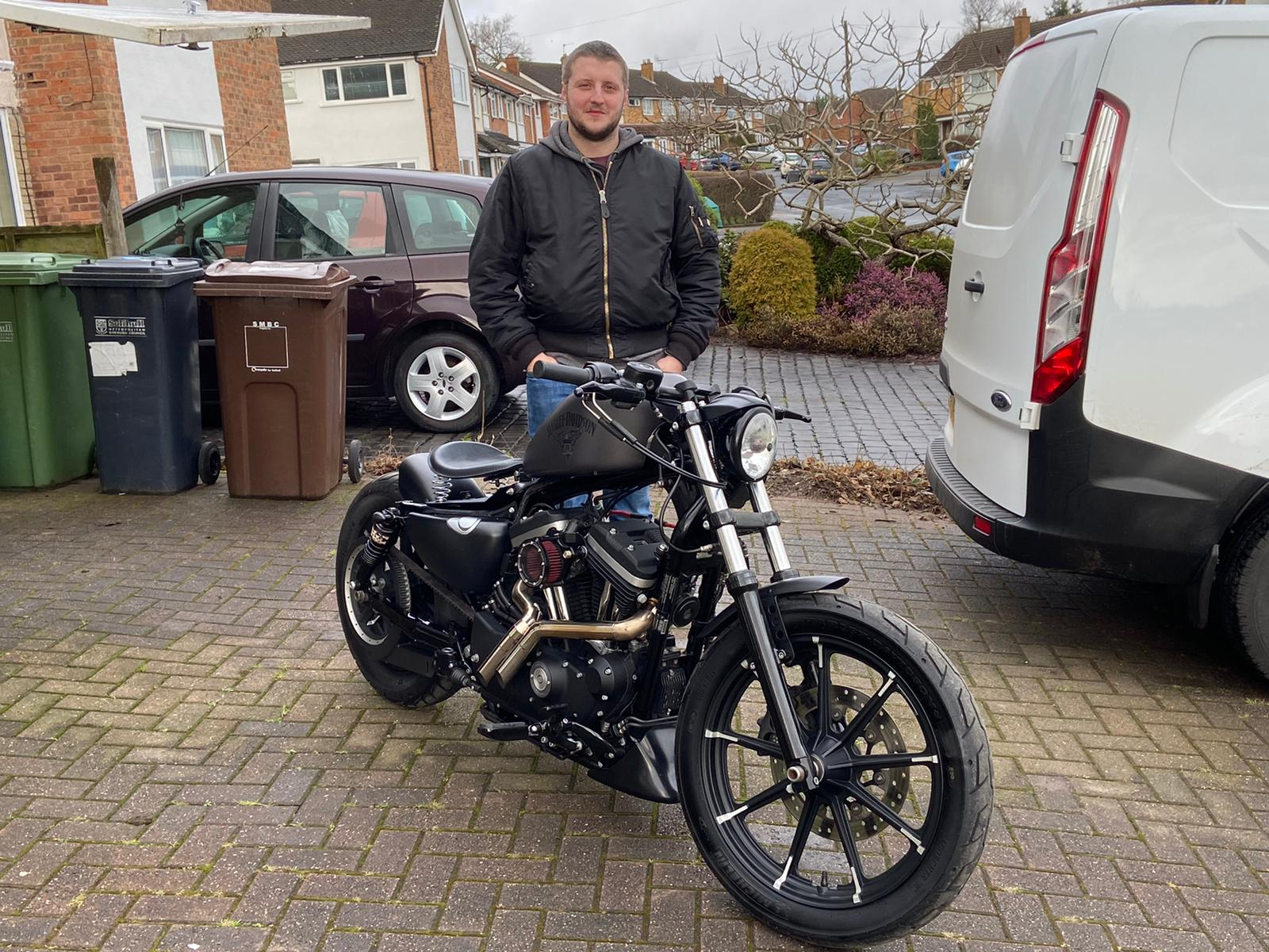 Winner Alex Kendall of a Harley Davidson XL 883 IRON – Custom Bobber - 15th Feb