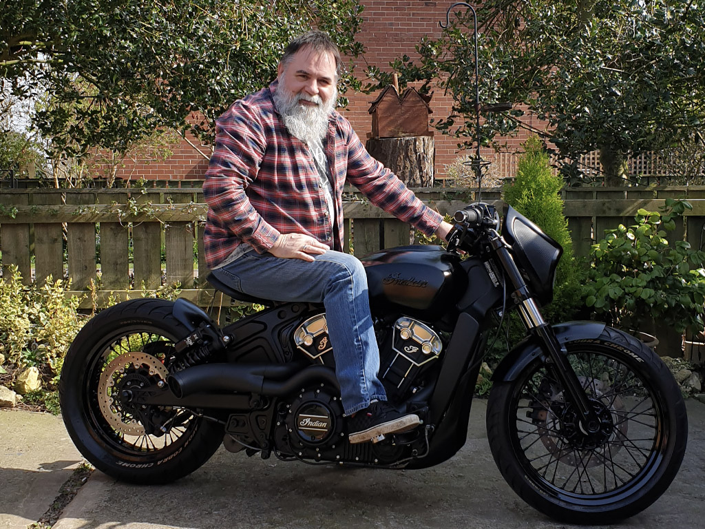 Winner Gary Wilson of a Custom Indian Scout Bobber 2020 High Spec Build! - 29th March