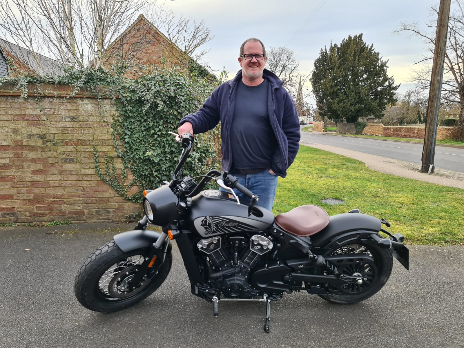 Winner Shayne Parfrey of a Brand New - Indian Scout Bobber Twenty - 22nd Feb