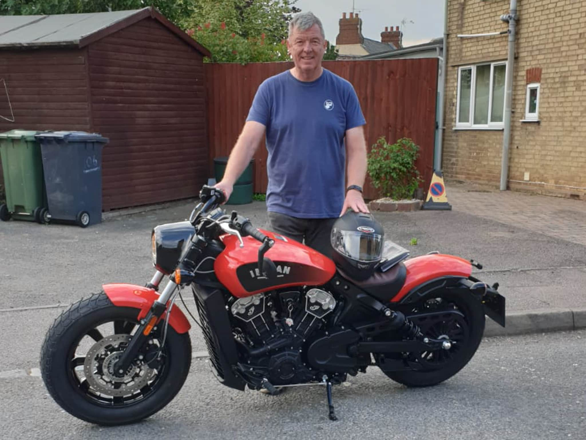 Winner Mark Hughes of a Brand New Indian Scout Bobber 1200 ICON – 12th July