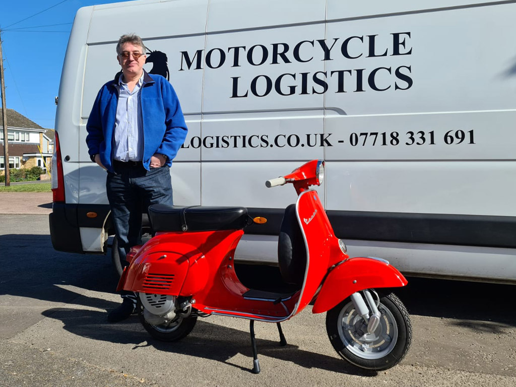 Winner Simon Denning of a 1973 Vespa 90 Racer - 19th April