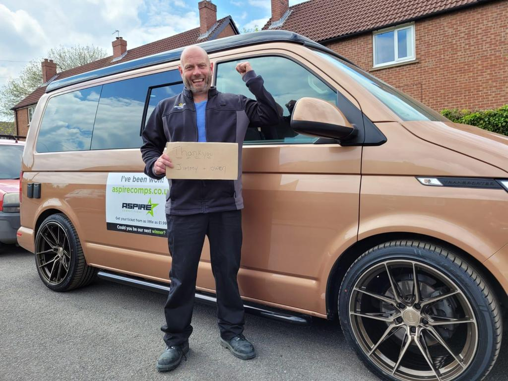 Winner Jon Pawlett of a 2020 VW T6.1 Highline 2.0 TDI - Copper Off Grid Camper - 24th May