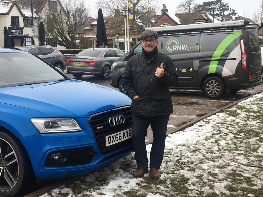 Winner John Renwick  of a 2017 Audi SQ5