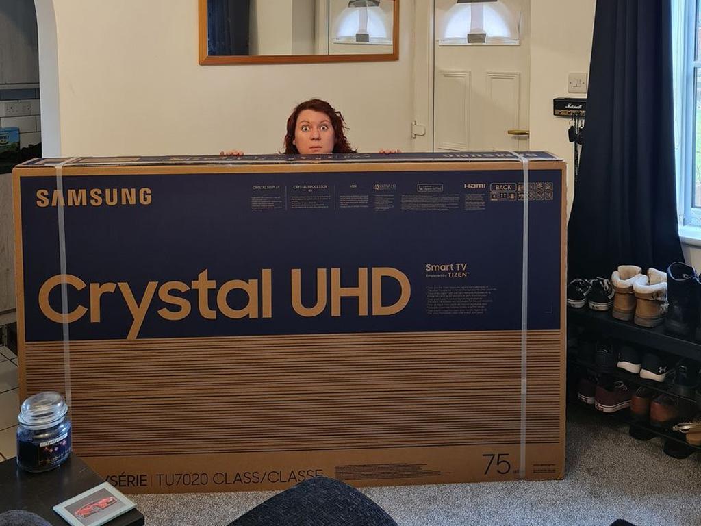 Winner Chrissie Burgoyne of a Samsung 75 Inch Smart 4K UHD HDR LED TV - 15th March
