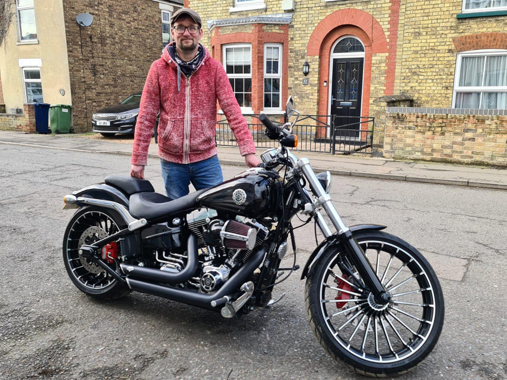 Winner Nick Wright of a 2016 Harley Davidson – Breakout 103 – 1st March