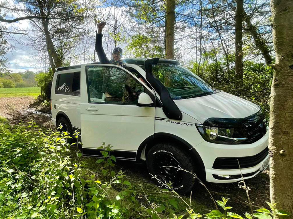 Winner William Morris of a VW T6 Highline - 4 Motion - 4x4 Off Road - 100% Off Grid Swamper - 3rd May