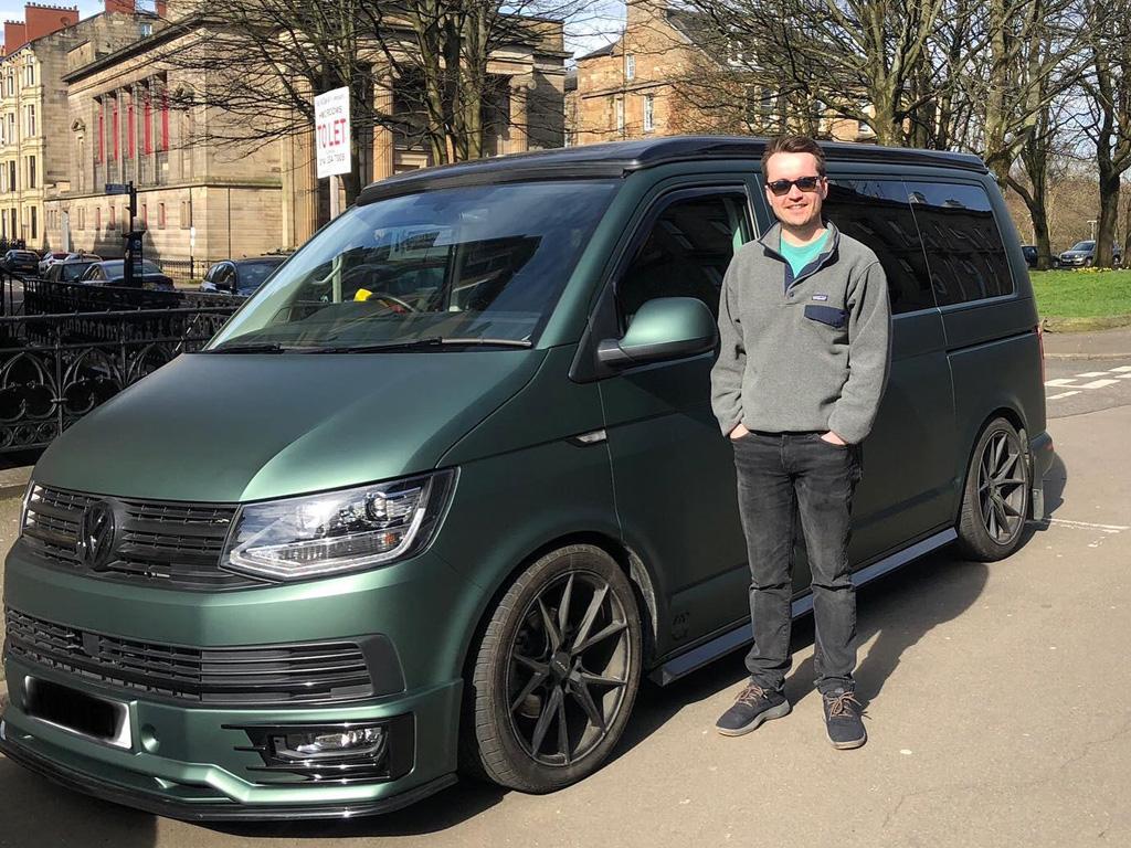 Winner Thomas Aitken of a 2018 VW T6 Highline - Off Grid - Matte Pine Green! 8th March