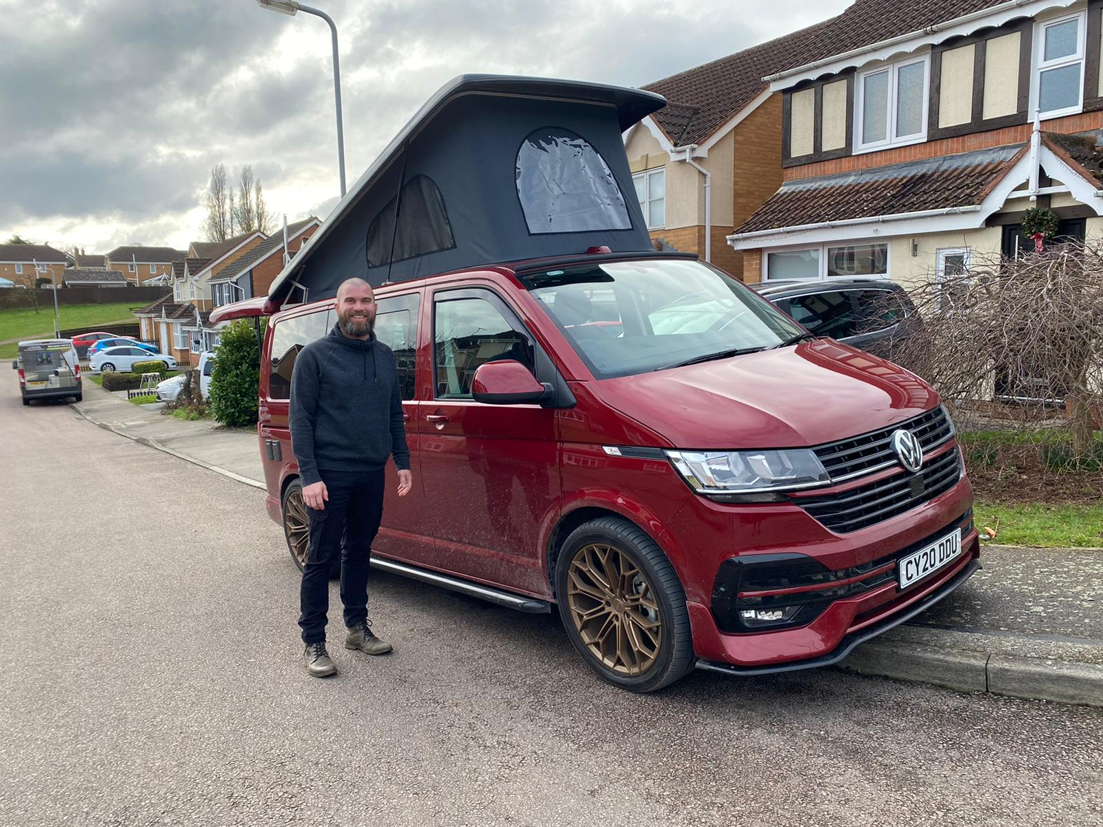 Winner Jamie Stockham of a 2020 VW Transporter T6.1 Highline 2.0 150bhp TDI - 8th Feb