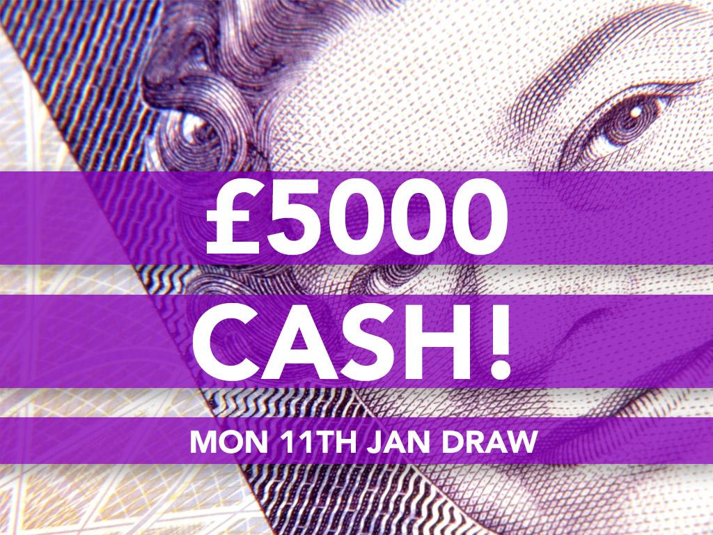 £5000 Cash