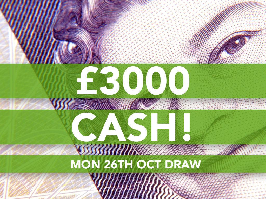 £3000 Cash