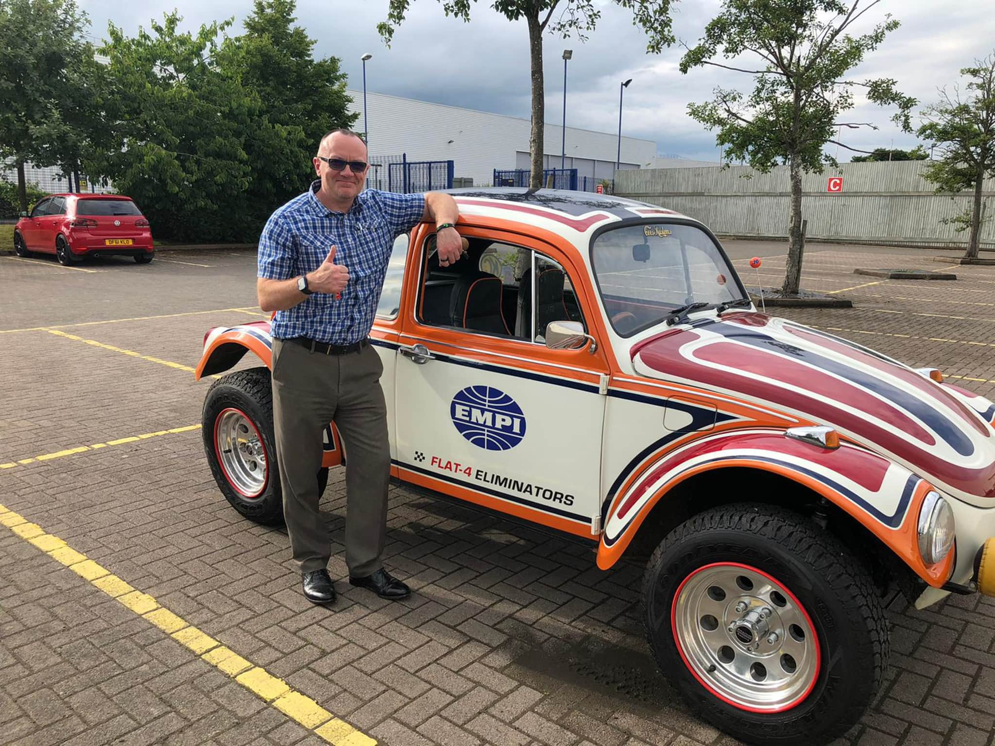 Winner Matt Luke of a 1972 VW Beetle - EMPI Inch Pincher Tribute Baja - 5th July