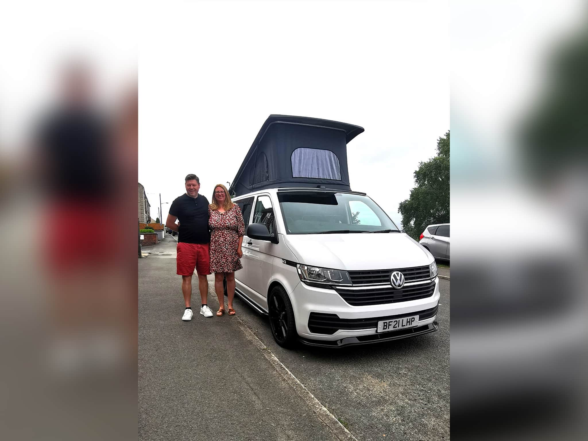 Winner Sarah Leivers of a 2021 VW T6.1 - 2.0 TDI - Super Low Mileage - Off Grid with Pop Top - Candy White - 9th Aug
