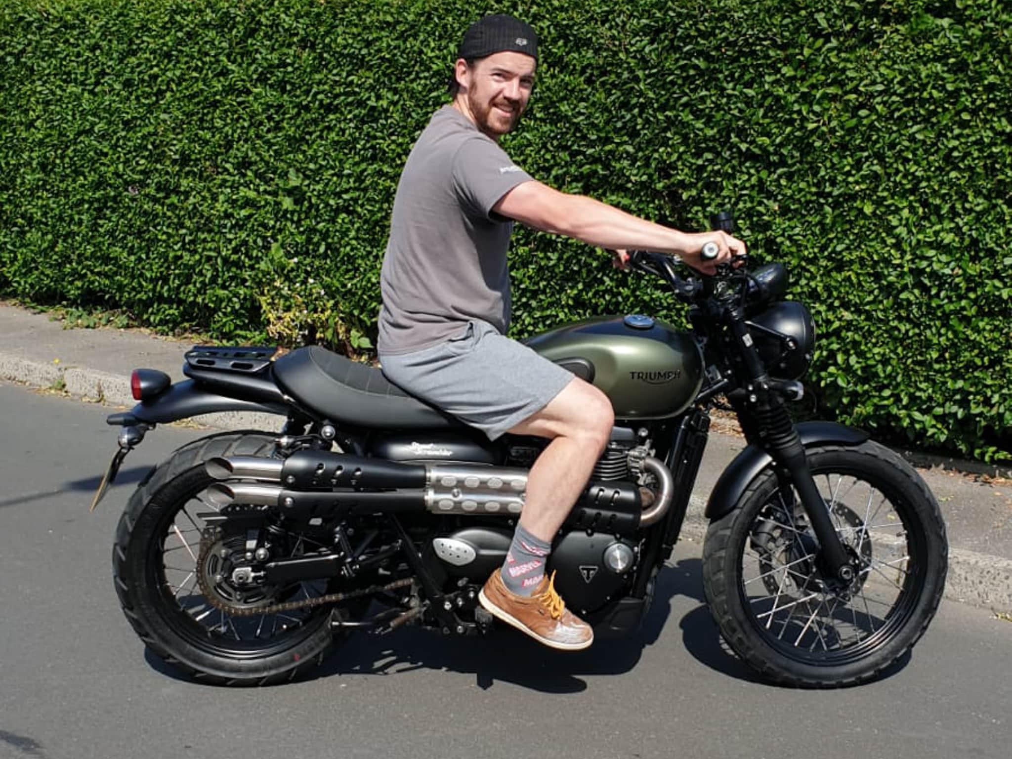 Winner Graeme Mcleish of a 2018 Triumph Street Scrambler 900cc… Custom ! 19th July