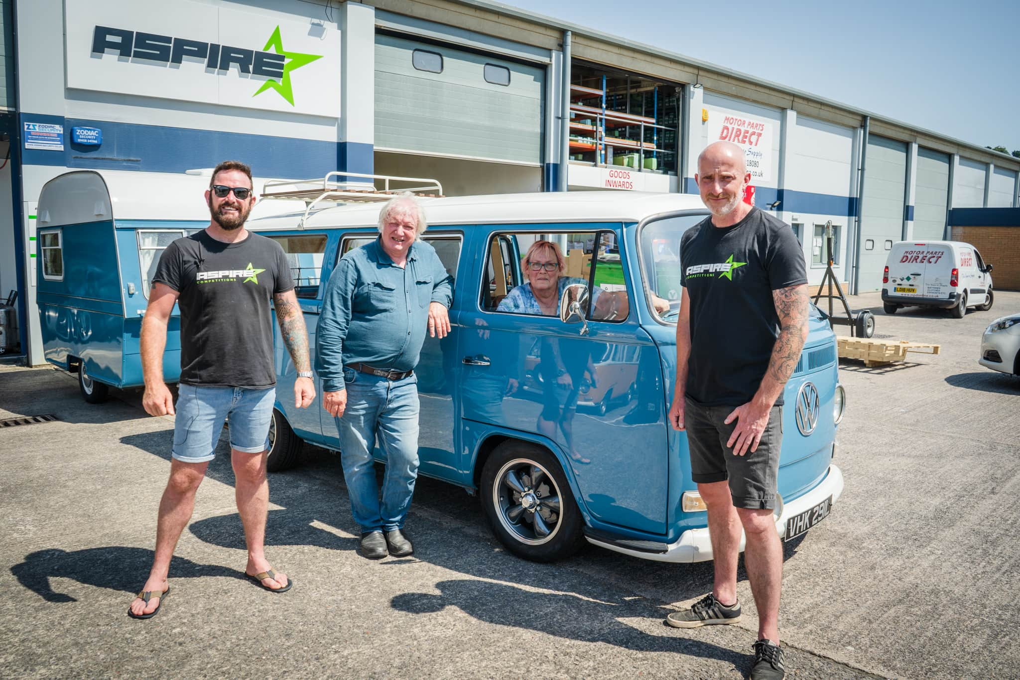 Winner Neil Philpott of a VW Type 2  Bay Crossover with Matching Caravan - 12th July