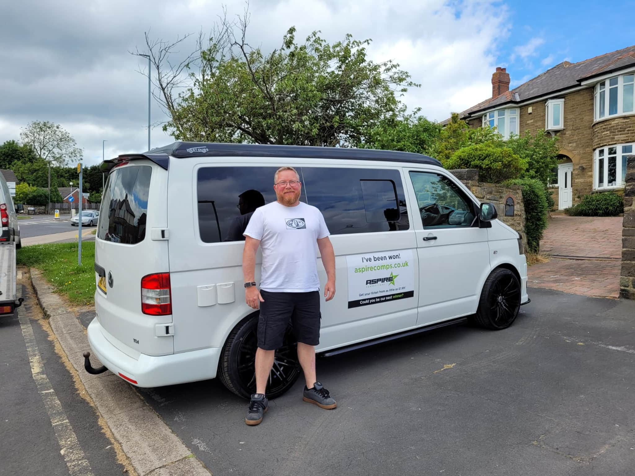 Winner Jon Fitzpatrick of a 2015 VW T5.1 Highline - 2.0 TDI - Off Grid with Pop Top Roof – 7th June