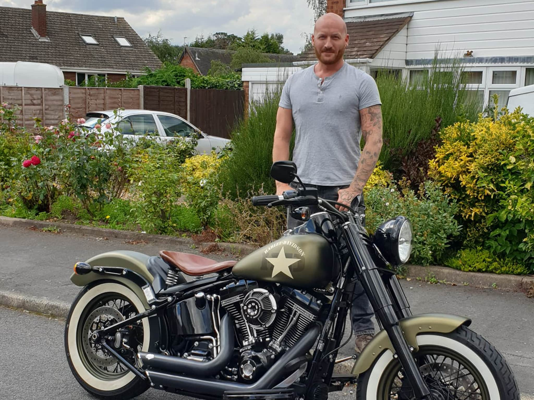 Winner Thomas Donnelly of a 2016 - Harley Davidson Softail Slim  (1802) - 9th Aug
