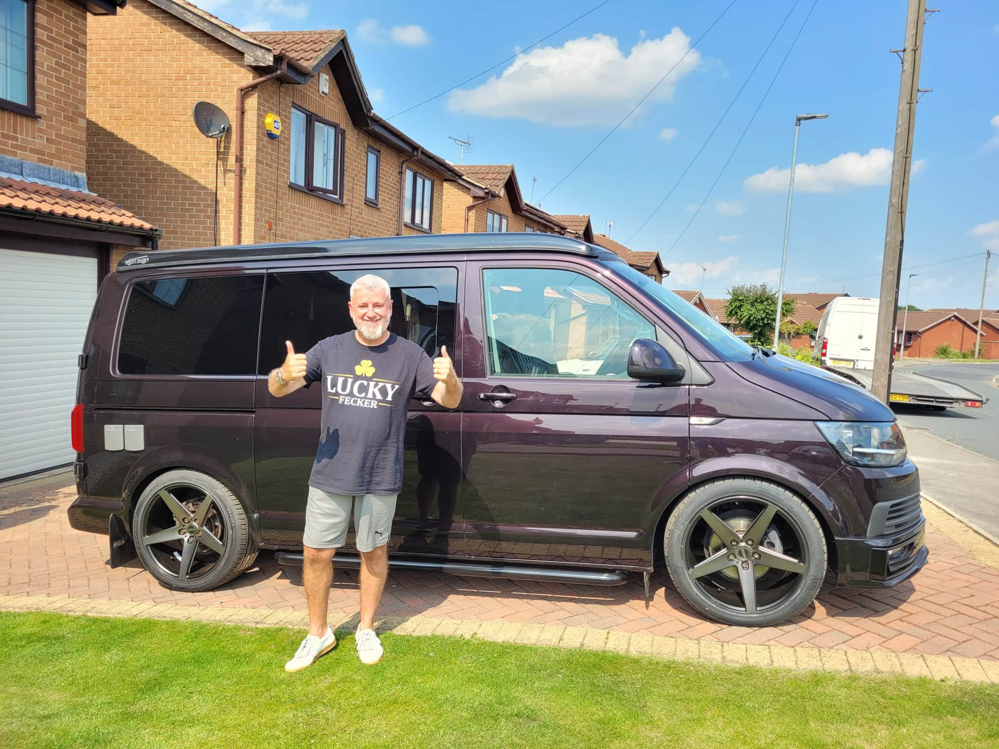 Winner Sean O'Connor of a VW T6 - DSG Off Grid with Poptop - Stage 2 tune 250bhp - Rare Blackberry - 19th July