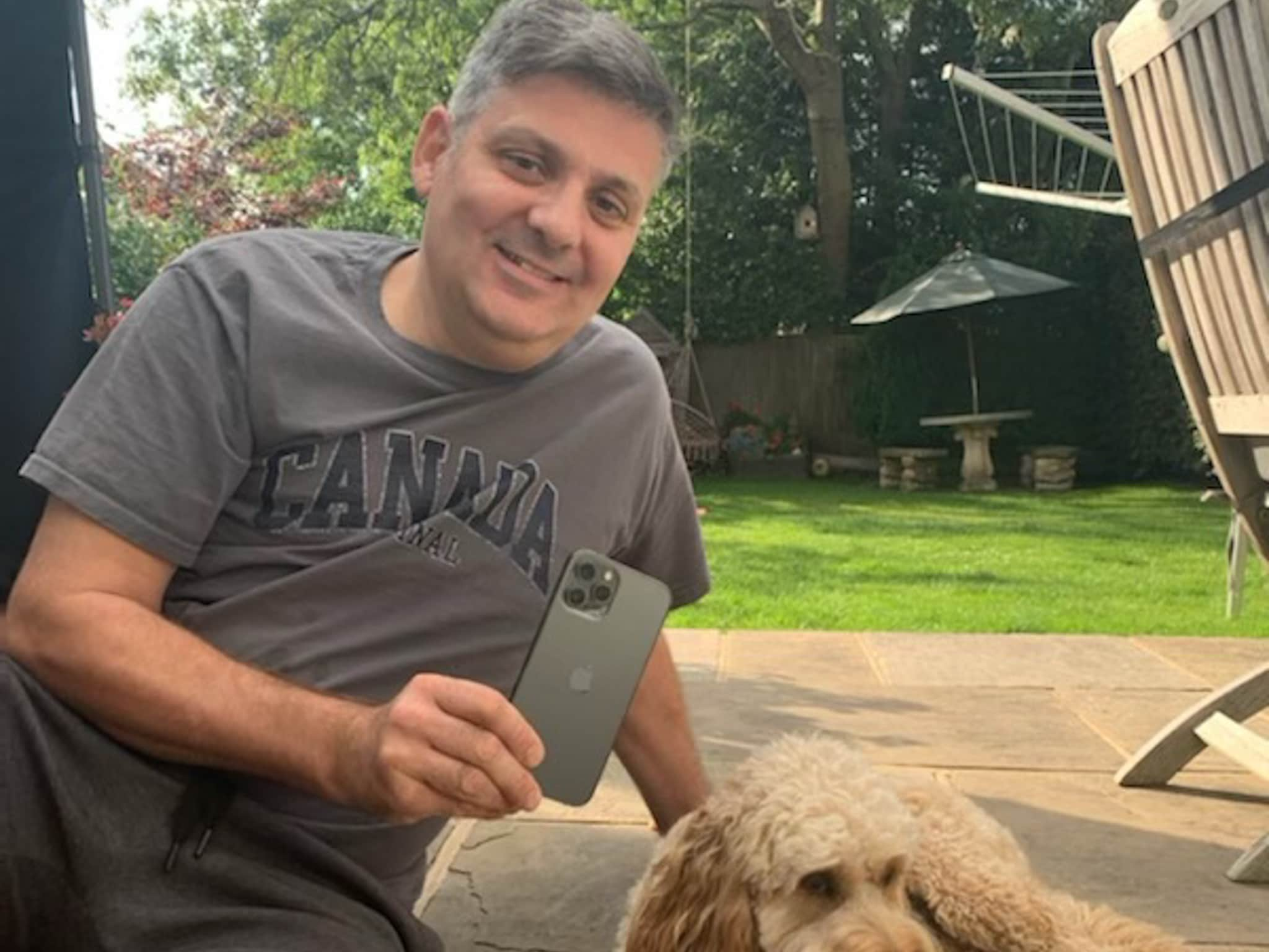 Winner Ian Bristow of a iPhone 12 Pro Max 256GB 5G Mobile Phone - Graphite - 26th July