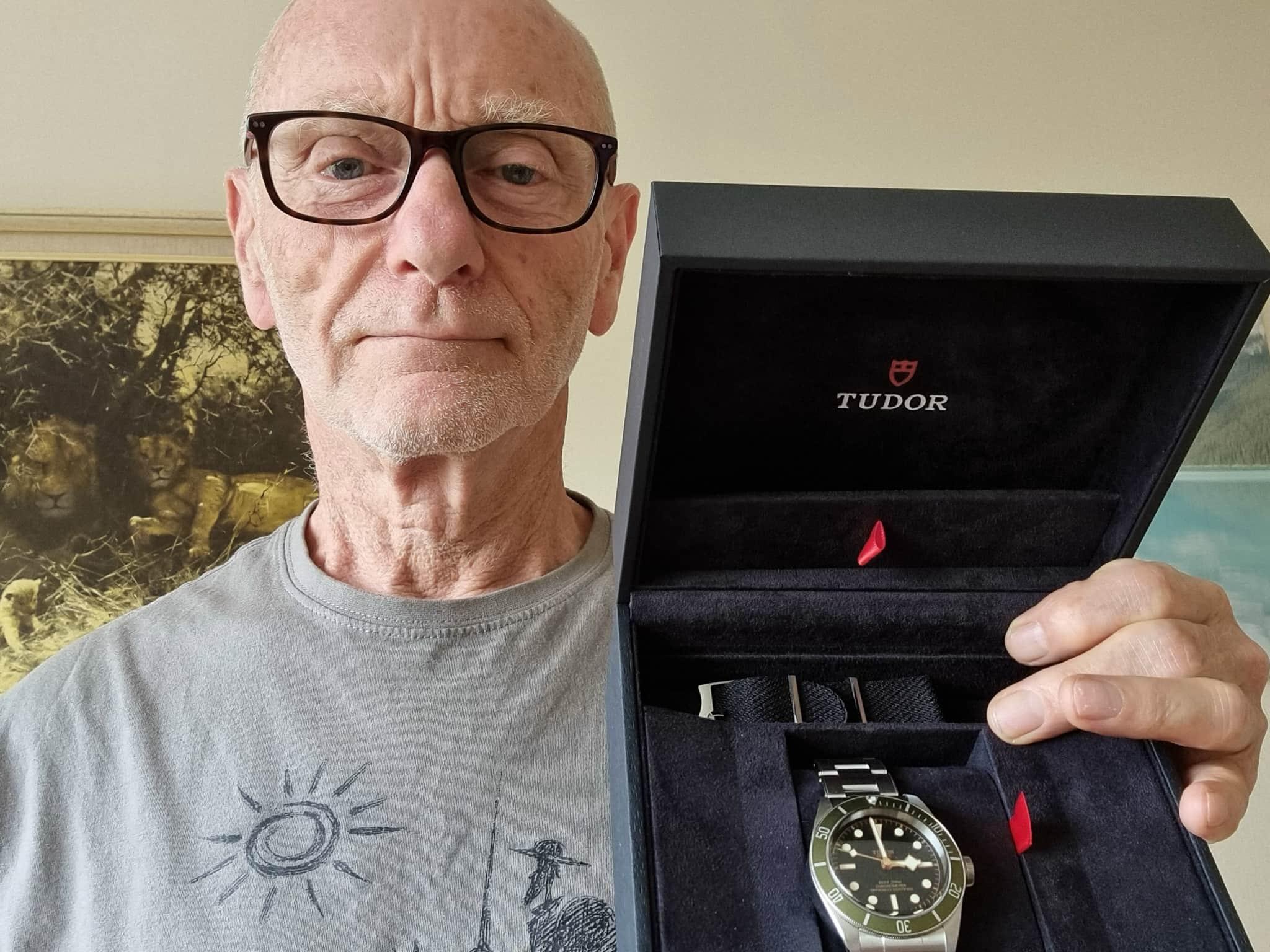 Winner Stewart Bragg of a Tudor Harrods Watch - 12th July