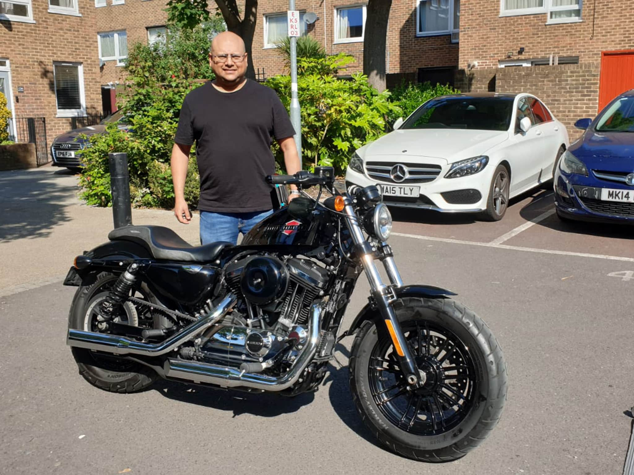 Winner Brian Dias of a Ukbikergirl's – 2019 - Harley Davidson Sportster 1200 Forty Eight!- 31st May