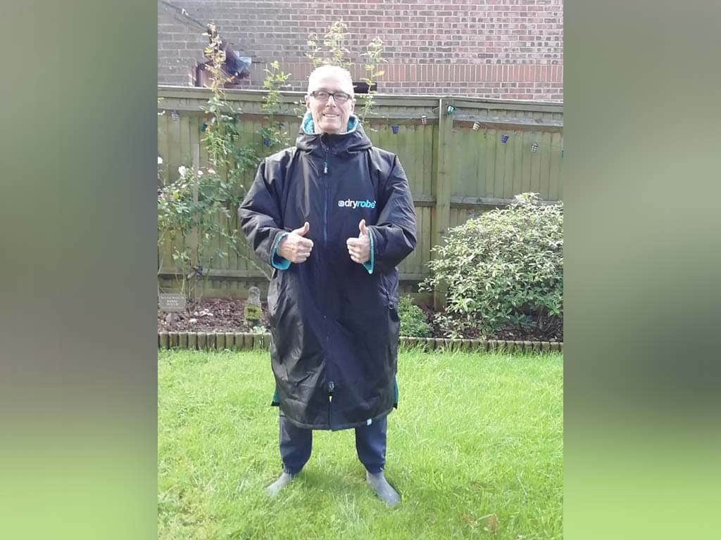 Winner Mark Reader of a Double dryrobe Advance Long Sleeve and Bags - Blue - 2x Dryrobe longsleeves with 2x Bags - 23rd Aug