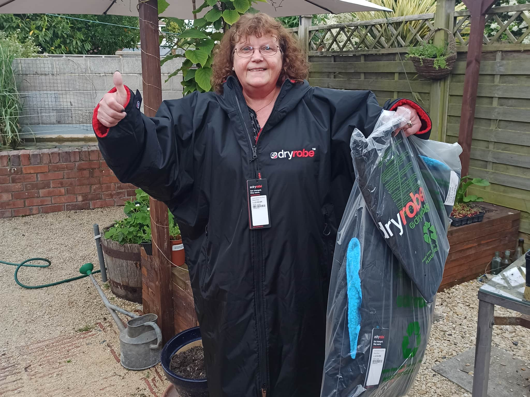 Winner Shirley Collins of a Double dryrobe Advance Long Sleeve and Bags - Blue - 2x Dryrobe longsleeves with 2x Bags - 7th June
