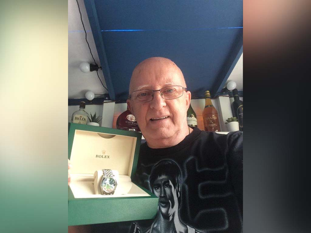 Winner Keith Ross of a Rolex Datejust 36 - 16th Aug