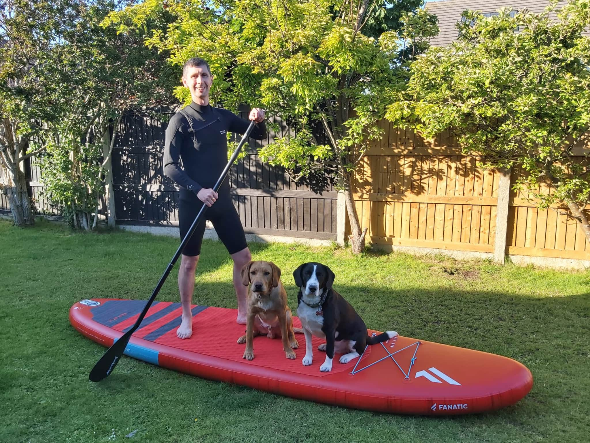Winner Thomas Roberts of a Fly Air Stand up Paddle Board (Red) and clothing Bundle! - 14th June