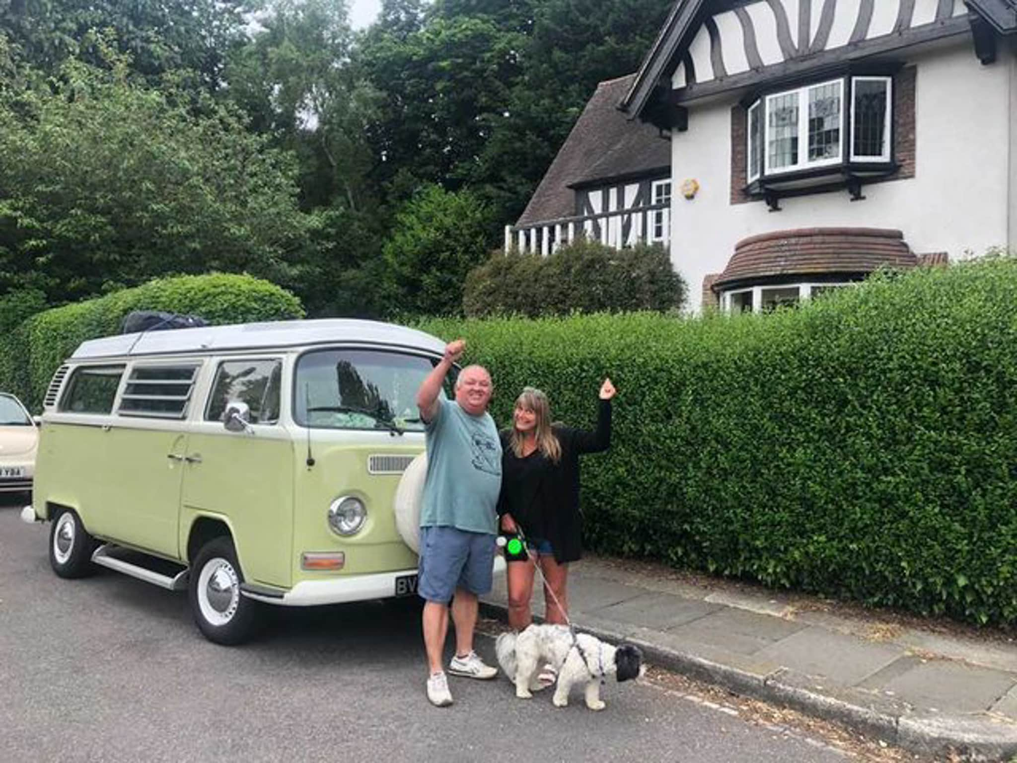 Winner Steven Darch of a Staycation VW Camper Hire - 22nd March