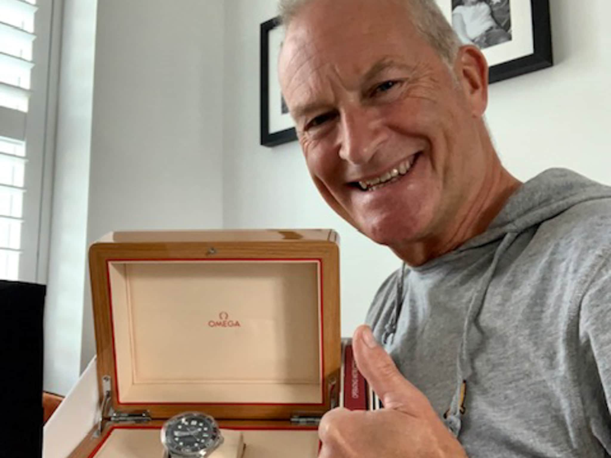 Winner Simon Lovatt of a OMEGA Seamaster Diver 300m Automatic Men's Watch - 28th June