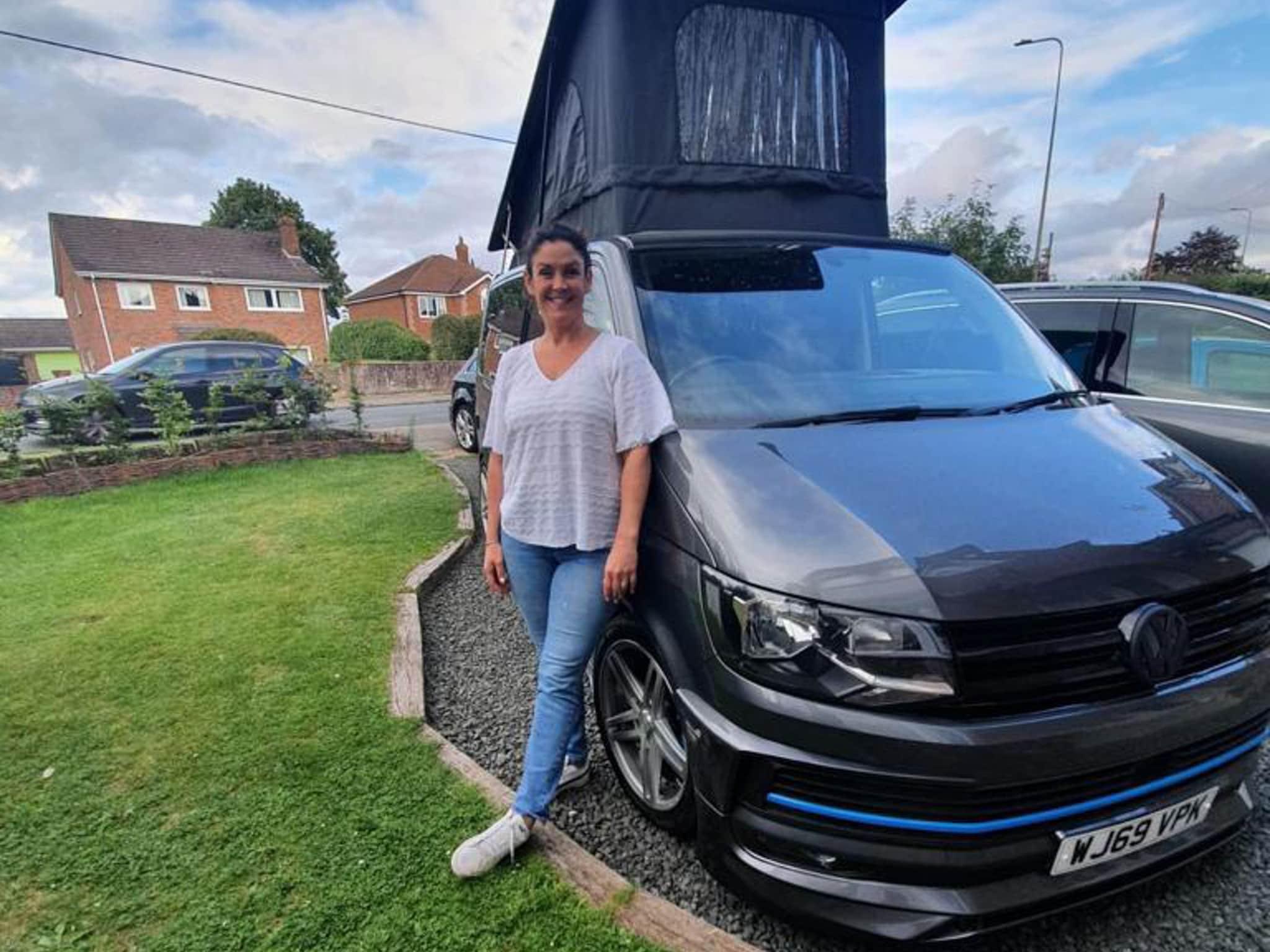 Winner HELEN KINGDON of a 2019 VW T6 Highline Sport Off Grid with ABT bodykit - 2nd Aug