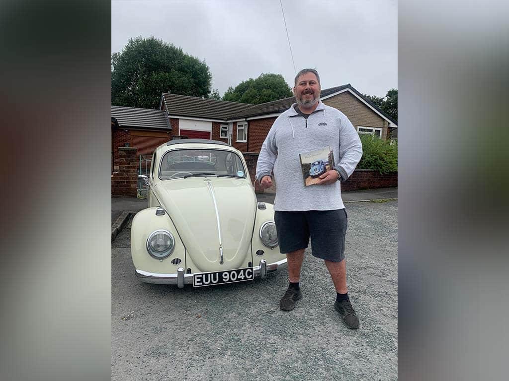 Winner Steven Gibson of a 1965 VW Ragtop beetle - FREE ENTRY - Love Bug - 9th Aug