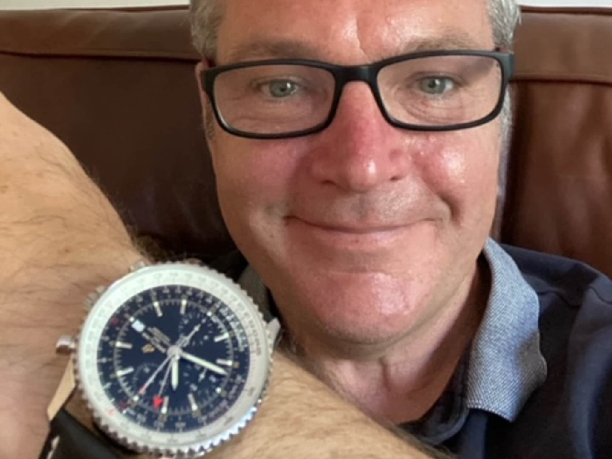 Winner David Castle of a Breitling Navitimer World 46 Automatic Chronograph Men's Watch - 5th July