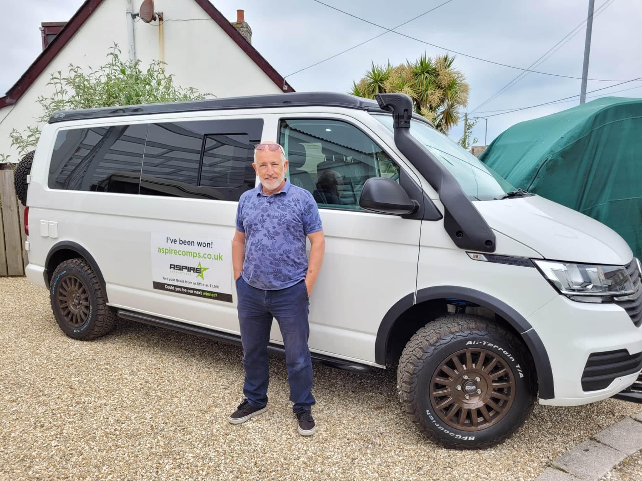 Winner Martin White of a 2021 VW T6.1 Swamper - Rare 4 Motion LWB - Off Grid - 14th June