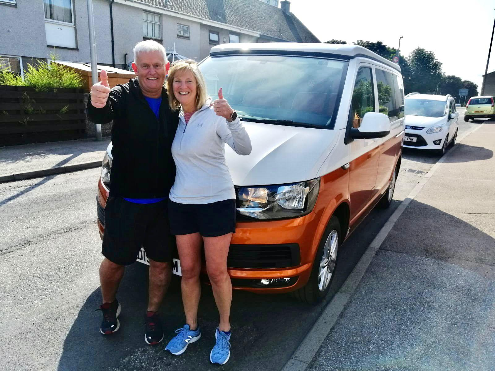 Winner David Forsyth of a 2019 VW T6 Highline Off Grid Surf Bus - Copper Gloss - 23rd Aug