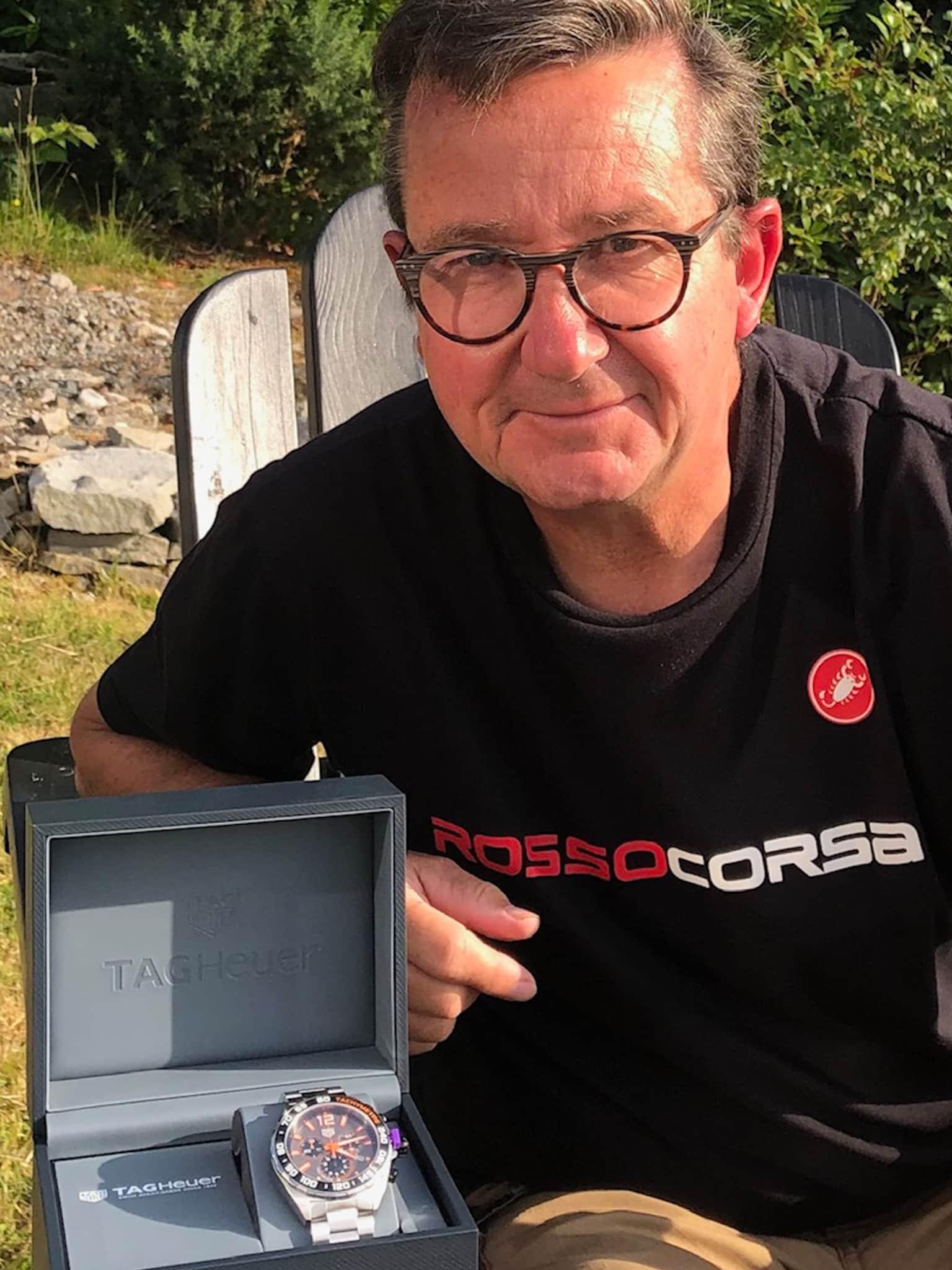Winner Trevor Stratford of a TAG Heuer Formula 1 Chronograph Men's Watch - 19th July