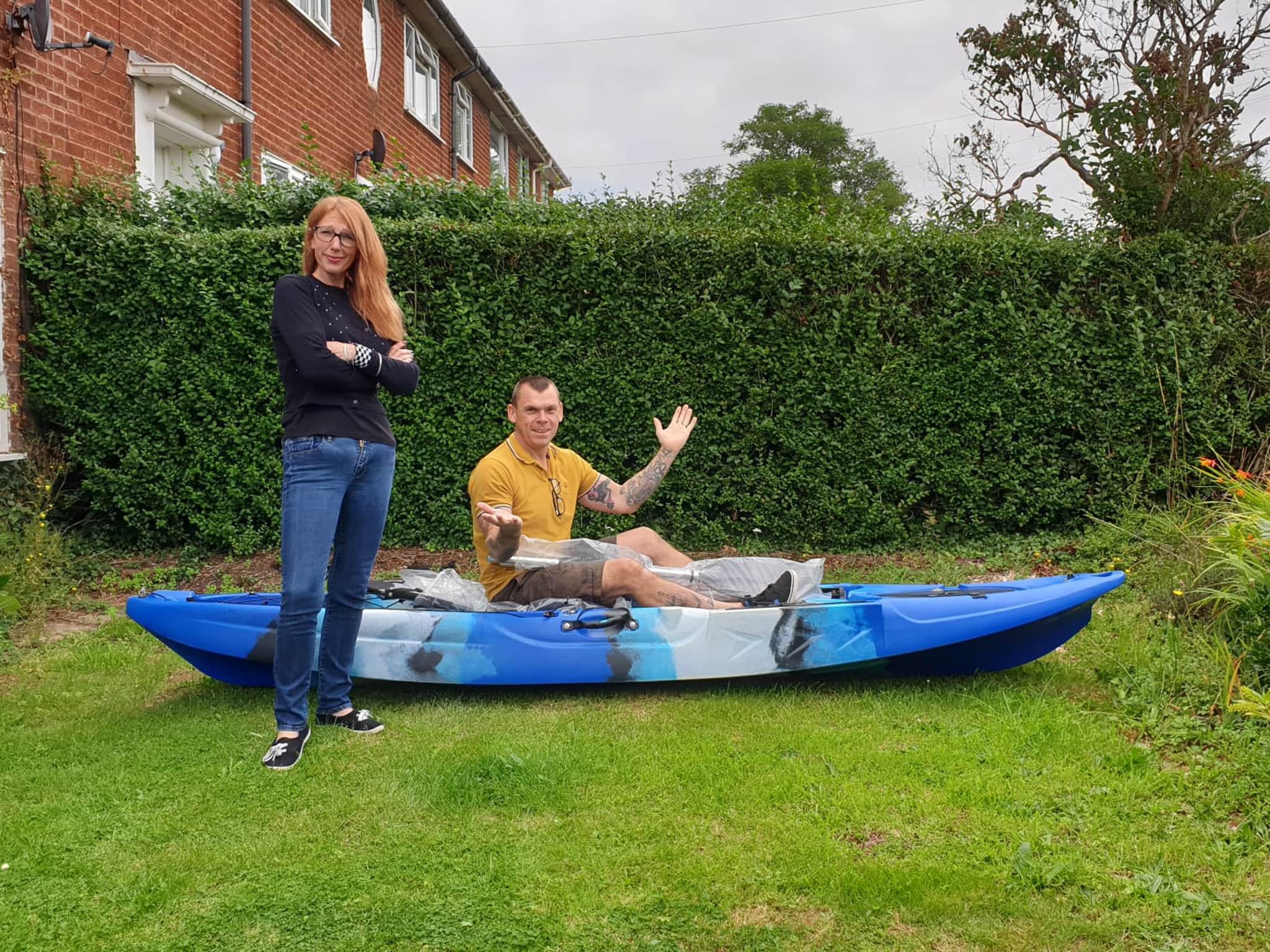 Winner Sarah Jayne Brady of a Barracuda Fishing Kayak with Fishing Chair - 9th Aug
