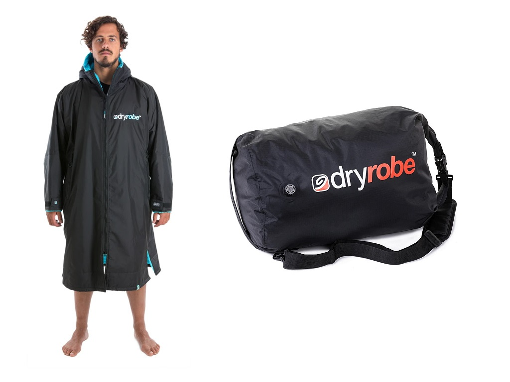Double dryrobe Advance Long Sleeve and Bags - Blue - 2x Dryrobe longsleeves with 2x Bags - 6th Sep
