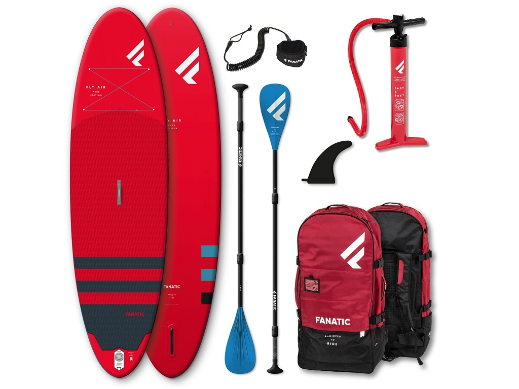 Fly Air Stand up Paddle Board (Red) and clothing Bundle! - 14th June
