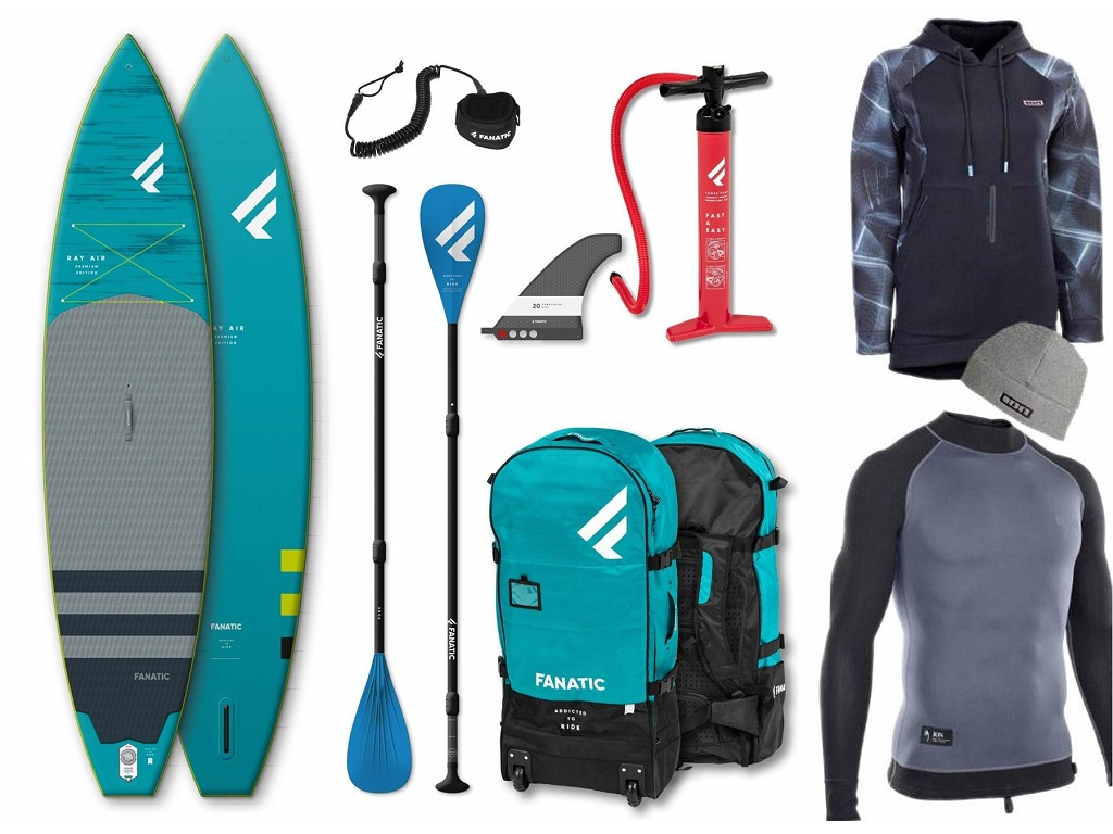 iSUP Package Fanatic Ray Air Premium/Pure and Clothing bundle - 16th Aug