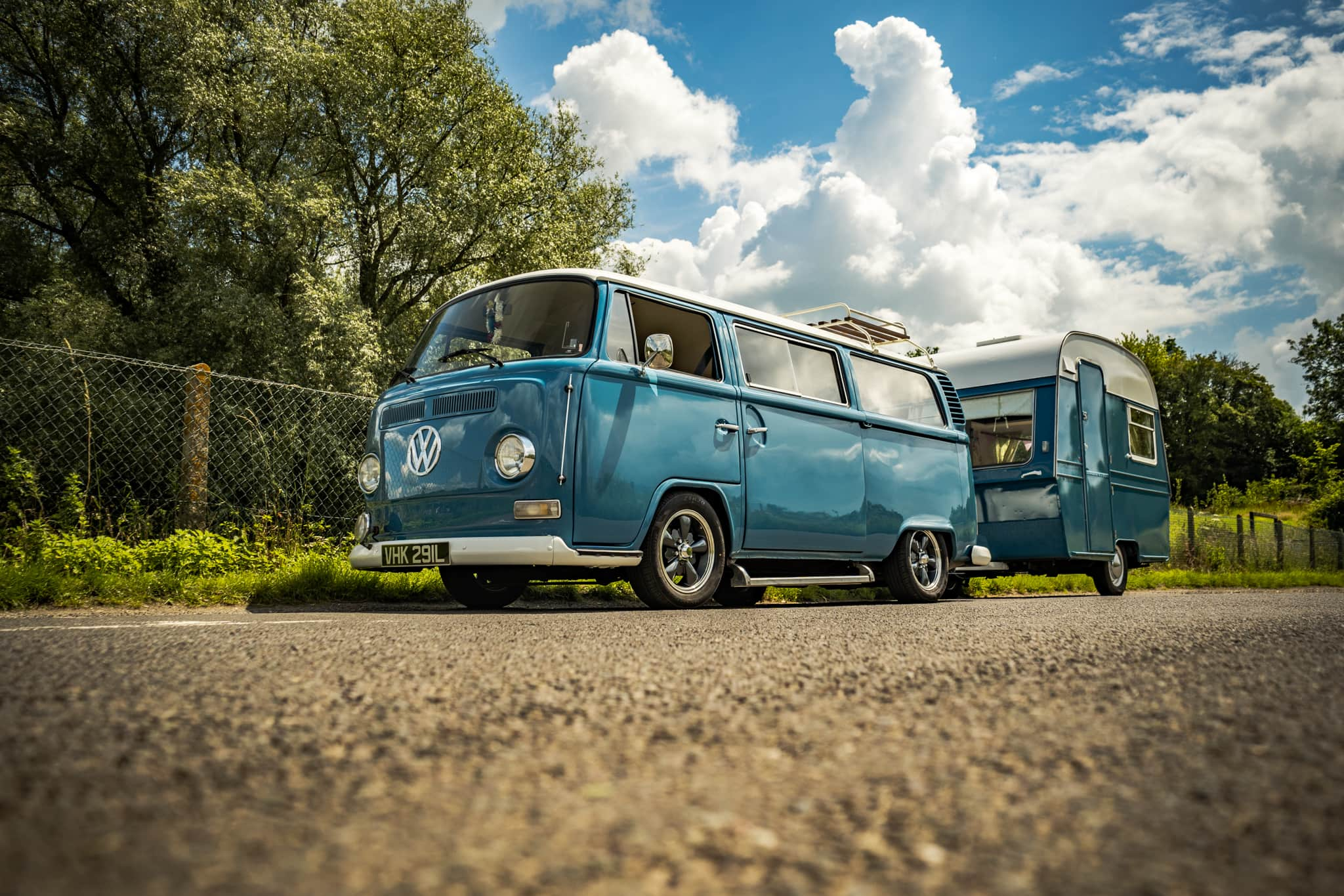 VW Type 2  Bay Crossover with Matching Caravan - 12th July