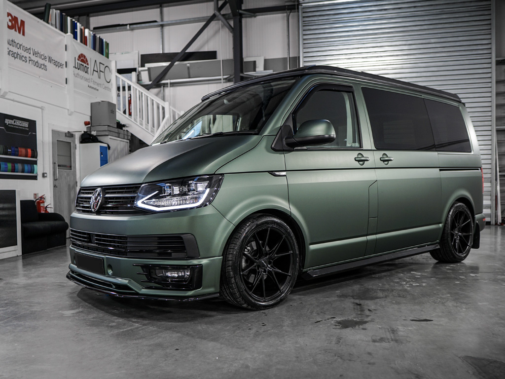 2018 VW T6 Highline - Off Grid - Matte Pine Green! 8th March